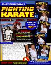 Soke Takayuki Kubota is a member of the Black Belt Hall of Fame and the founder and grandmaster of the International Karate Association Inc. Kubota's hybrid of judo, karate and jujutsu techniques is a very powerful and practical self-defense system called gosoku-ryu. Learn its techniques in this five-part video collection from the man who has trained some of the finest law-enforcement and military personnel in the world. Volume 1: Kubo-Jitsu Fighting — Warm-up exercises and falling, realistic combat, jujutsu and grappling holds, counters, standing techniques and effective defenses. (Approx. 58 min.)  Volume 2: Gosoku-Ryu Fighting — Striking speed drills, kicking and punching attacks and counters, footwork and maneuvers, takedowns, and coordination drills to improve speed and defenses. (Approx. 57 min.)  Volume 3: Weapons Action—Techniques and Kata — Cane techniques (attack and defense drills), kata and applications, keibo jitsu waza (staff techniques), attack-and-defense drills with the staff, tonfa (side-handle baton) attack-and-defense drills, kata and application, and police baton techniques and application. (Approx. 59 min.)  Volume 4: Gosoku-Ryu Kata — Basic drills, kihon no kata, advanced gosoku-ryu kata and detailed explanation of the hidden fighting techniques in kata. (Approx. 54 min.)  Volume 5: Defensive Street Fighting — Kicking drills, striking drills and effective ways to strike and kick an attacker, how to block attacks and initiate counterattacks, executing takedowns, defending against holds and grabs, ways of defending yourself from the ground or while sitting, turning ordinary items into weapons and avoiding potentially lethal situations on the street. (Approx. 60 min.)