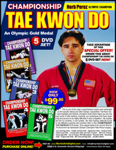 "This is one of the most comprehensive works ever presented on the specific training for Elite Olympic Competition Tae Kwon Do. Gold medalist and Olympic champion, Herb Perez, takes you into the real world of elite training, teaching you techniques that have been tried and proved to be highly effective in real competition.  His studies led him to combine - in one system - the best training methods found in the different countries and combine them in this ""Championship Tae kwon Do"" Series. This original ""Ancient Warrior Production"" series represents Olympic Champion, Herb Perez´s legacy.  Line drills and Hogu drills Paddle and box drills  Application drills and situation drills Follow-step drills Counter-kick drills and kick counters RIPcord training drills Heavy-bag drills Use of Century TKD Wavemaster  Reaction drills Bounding drills Progression drills"