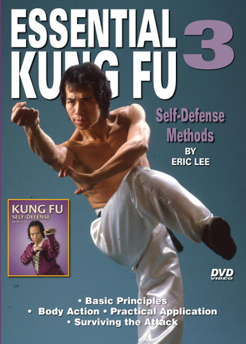 ESSENTIAL KUNG FU By Eric Lee Grandmaster Eric Lee  trained in both Northern and Southern Shaolin Kung Fu. He exceled in the field of martial arts and is credited with winning more national and international awards than any other martial artist in the United States. Volume 3 - Self- Defense Methods Basic Principles Body action  Practical application   Surviving the attack