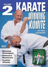 "WINNING KUMITE Volume 2 Shihan Paul Godshaw, Chief Instructor and Sensei of the Mission Viejo Branch of the ""Japan Karate-Do Federation"", has one of the most impressive backgrounds of Karate-do in the United States. Mr. Paul Godshaw started training in 1965 with Sensei Dan Ivan and Sensei Fumio Demura. Under their tutelage, he had earned a Yon-Dan (4th Dan) Black Belt. And, by strict examination of the Masters of the ""International Martial Arts Federation"" (IMAF), Mr. Godshaw has also been awarded a Hachi-dan (8th Dan Black Belt in Karate-Do).  VOLUME 2  •	Blocking Techniques  •	Defensive Maneuvers •	Counter Attacks"