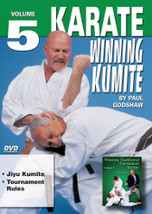 "WINNING KUMITE   By Paul Godshaw In this Series, he takes us beyond the theory and into the real world of ""karate kumite"" to teach techniques that have been tried and proven in sport situations. This series represents one of the finest and more comprehensive works ever presented on this subject.  Shihan Paul Godshaw, Chief Instructor and Sensei of the Mission Viejo Branch of the ""Japan Karate-Do Federation"", has one of the most impressive backgrounds of Karate-do in the United States. Mr. Paul Godshaw started training in 1965 with Sensei Dan Ivan and Sensei Fumio Demura. Under their tutelage, he had earned a Yon-Dan (4th Dan) Black Belt. And, by strict examination of the Masters of the ""International Martial Arts Federation"" (IMAF), Mr. Godshaw has also been awarded a Hachi-dan (8th Dan Black Belt in Karate-Do).  VOLUME 5  Jiyu Kumite  Tournament Rules"