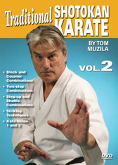 SHOTOKAN KARATE Volume 2 by Tom Muzila One of the world's leading contemporary disciples of Gichin Funakoshi's Okinawan shotokan karate is Sensei Tsutomu Ohshima sensei, whose headquarters are located in Southern California. In this five-part series, Tom Muzila—a direct pupil of Mr. Ohshima—presents the techniques, forms and strategies that make shotokan karate such an effective combat art. Already well-known for his incredible physical/mental stamina and endurance records, He is currently an instructor/adviser to law-enforcement officers and the military in tactics, weapons and defense, making him the ideal instructor for this superior instructional video series.  Volume 2 covers block-and-counter combinations, two-step combinations, the horse stance, step-up-and-shuffle combinations and striking. Also includes kata heian 1 and 2. (Approx. 54 min.)