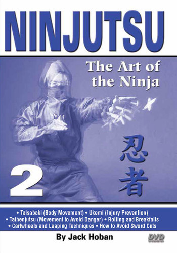 "NINJUTSU Volume 2 by Jack Hoban Shidoshi Jack Hoban—a former Marine Corps captain and one of the acknowledged ""founding fathers"" of Ninjutsu in America—reveals the core physical techniques of this mysterious and often misunderstood art. Personally trained by Grandmaster Masaaki Hatsumi in Japan, Shidoshi (senior instructor) Hoban is an ideal instructor to teach Ninjutsu to new and experienced practitioners.  Volume 2 covers taisabaki (basic body movement), ukemi (injury prevention), taihenjutsu (movement to avoid danger), rolling, breakfalls, cartwheels and leaping techniques. Also includes instruction for ninja walking and advice on how to avoid sword cuts. (Approx. 50 min.)"