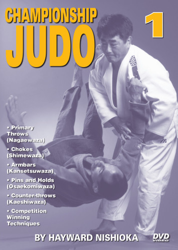 "CHAMPIONSHIP JUDO - Volume 1 By Hayward Nishioka  Hayward Nishioka is a legendary Japanese martial artist and ""Black Belt Hall of Fame"" member, inducted in 1977 as ""Judo Instructor of the Year"".  This world-class champion's judo career began in the United States and eventually took him to study at the famed Kodokan Judo Institute in Tokyo, Japan. As a martial arts competitor, teacher and lecturer, Sensei Hayward Nishioka has acquired a skill and insight into this art that is respected all over the world. In this original ""Ancient Warrior Productions"" three-part DVD series, Hayward Nishioka teaches proper breakfalls, 15 of judo's primary throws (Nagaewaza), grappling skills, chokes (Shimewaza), armbars (Kansetsuwaza), pins and holds (Osaekomiwaza), counter-throws (Kaeshiwaza) and many other winning techniques."