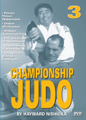 "CHAMPIONSHIP JUDO - Volume 3 By Hayward Nishioka  Hayward Nishioka is a legendary Japanese martial artist and ""Black Belt Hall of Fame"" member, inducted in 1977 as ""Judo Instructor of the Year"".  This world-class champion's judo career began in the United States and eventually took him to study at the famed Kodokan Judo Institute in Tokyo, Japan. As a martial arts competitor, teacher and lecturer, Sensei Hayward Nishioka has acquired a skill and insight into this art that is respected all over the world. In this original ""Ancient Warrior Productions"" three-part DVD series, Hayward Nishioka teaches proper breakfalls, 15 of judo's primary throws (Nagaewaza), grappling skills, chokes (Shimewaza), armbars (Kansetsuwaza), pins and holds (Osaekomiwaza), counter-throws (Kaeshiwaza) and many other winning techniques."
