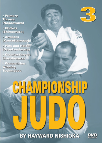 """CHAMPIONSHIP JUDO - Volume 3 By Hayward Nishioka  Hayward Nishioka is a legendary Japanese martial artist and """"Black Belt Hall of Fame"""" member, inducted in 1977 as """"Judo Instructor of the Year"""".  This world-class champion's judo career began in the United States and eventually took him to study at the famed Kodokan Judo Institute in Tokyo, Japan. As a martial arts competitor, teacher and lecturer, Sensei Hayward Nishioka has acquired a skill and insight into this art that is respected all over the world. In this original """"Ancient Warrior Productions"""" three-part DVD series, Hayward Nishioka teaches proper breakfalls, 15 of judo's primary throws (Nagaewaza), grappling skills, chokes (Shimewaza), armbars (Kansetsuwaza), pins and holds (Osaekomiwaza), counter-throws (Kaeshiwaza) and many other winning techniques."""