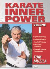 "KARATE: THE INNER POWER Volume 1 By TOM MUZILA  When it comes to achieving a goal, strength of the mind – not the size of the person – is what counts. Everyone possesses this energy: it just needs to be tapped, Known as ""Chi"" or ""Ki"", this inner energy helps martial artists to achieve apparently superhuman feats. In this 2 DVD Series, Martial Arts and Karate expert, Tom Muzila, teaches a combination of modern sports technology and ancient martial arts philosophies designed to help a martial artists acquire the mentality to face any opponent or obstacle in their path. It also includes ways of developing and generating maximum chi instantly, the secrets of ancient iron-ball training techniques, and the essence of plyometric concepts as way to develop maximum explosiveness and speed in your Karate techniques.   Chi Development Iron Ball Training Plyometric Exercises Power & Balance Development"