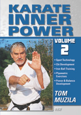 "KARATE: THE INNER POWER Volume 2 By TOM MUZILA  When it comes to achieving a goal, strength of the mind – not the size of the person – is what counts. Everyone possesses this energy: it just needs to be tapped, Known as ""Chi"" or ""Ki"", this inner energy helps martial artists to achieve apparently superhuman feats. In this 2 DVD Series, Martial Arts and Karate expert, Tom Muzila, teaches a combination of modern sports technology and ancient martial arts philosophies designed to help a martial artists acquire the mentality to face any opponent or obstacle in their path. It also includes ways of developing and generating maximum chi instantly, the secrets of ancient iron-ball training techniques, and the essence of plyometric concepts as way to develop maximum explosiveness and speed in your Karate techniques.   Chi Development Iron Ball Training Plyometric Exercises Power & Balance Development"