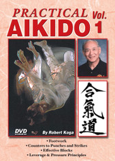 PRACTICAL AIKIDO Volume 1  by Robert Koga This is one of the finest and most comprehensive works ever presented on Aikido. Sensei Robert Koga (former premier law-enforcement instructor for the Los Angeles Police Department and consultant for countless other agencies in the United States and around the world) takes you beyond the theory and into the real world of practical Aikido to teach techniques that have been tried and proved in real-life situations.  Volume 1 includes proper footwork, counters to punches and strikes, effective blocks, leverage, pressure and much more. (Approx. 53 min.)
