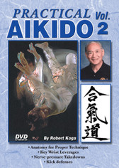 PRACTICAL AIKIDO Volume 2  by Robert Koga This is one of the finest and most comprehensive works ever presented on Aikido. Sensei Robert Koga (former premier law-enforcement instructor for the Los Angeles Police Department and consultant for countless other agencies in the United States and around the world) takes you beyond the theory and into the real world of practical Aikido to teach techniques that have been tried and proved in real-life situations.  Volume 2 includes utilizing anatomy for proper technique: key wrist leverages, nerve-pressure takedowns, kick defenses and more. (Approx. 50 min.)