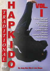"""TRADITIONAL HAPKIDO  Volume 1  By Grandmaster Jong Bae Rim & Joe Sheya In this original series filmed and produced by """"Ancient Warrior Productions"""", Grandmaster Jong Bae Rim and Instructor Joe Sheya teach the intricate aspects of the traditional Hapkido system as taught by the Great Yong Shui Choi.   Volume 1 includes basic warm-ups and tumbling, stances and breathing, defense against grabs, blocks against punches, and kick blocks."""