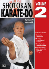 Shotokan Karate Volume 2  by Kiyoshi Yamazaki Chief International Instructor, Japan Karate Do Ryobu-Kai, Kiyoshi Yamazaki sensei —an eight-degree black belt from Ryobukai (Japan Karate Federation) and a ninth-degree Shindo Jinen Ryu—teaches you kata and sparring techniques from beginning through black-belt ranks. His own teacher, Yasuhiro Konishi, learned this style directly from Okinawan masters Funakoshi (shotokan) Mabuni (shito-ryu), Miyagi (goju-ryu) and Choki Motobu. This series includes: warm-ups, strikes and kicks, stances and footwork, black-belt kata, defenses, distance, timing, power and speed training, self-defense techniques, and much more. (Approx. 60 min, each DVD)  Defensive maneuvers  Blocking, punching & kicking  Sparring & Jyu Kumite training  Kata: Jitte, Bassai Dai, Jion, Kanku Dai, Empi and Hangetsu