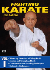 FIGHTiNG KARATE Volume 1 by Tak Kubota Soke Takayuki Kubota is a member of the Black Belt Hall of Fame and the founder and grandmaster of the International Karate Association Inc. Kubota's hybrid of judo, karate and jujutsu techniques is a very powerful and practical self-defense system called gosoku-ryu. Learn its techniques in this five-part video collection from the man who has trained some of the finest law-enforcement and military personnel in the world.  Volume 1: Kubo-Jitsu Fighting — Warm-up exercises and falling, realistic combat, jujutsu and grappling holds, counters, standing techniques and effective defenses. (Approx. 58 min.)