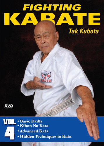 FIGHTING KARATE Volume 4 by Tak Kubota Soke Takayuki Kubota is a member of the Black Belt Hall of Fame and the founder and grandmaster of the International Karate Association Inc. Kubota's hybrid of judo, karate and jujutsu techniques is a very powerful and practical self-defense system called gosoku-ryu. Learn its techniques in this five-part video collection from the man who has trained some of the finest law-enforcement and military personnel in the world.  Volume 4: Gosoku-Ryu Kata — Basic drills, kihon no kata, advanced gosoku-ryu kata and detailed explanation of the hidden fighting techniques in kata. (Approx. 54 min.)