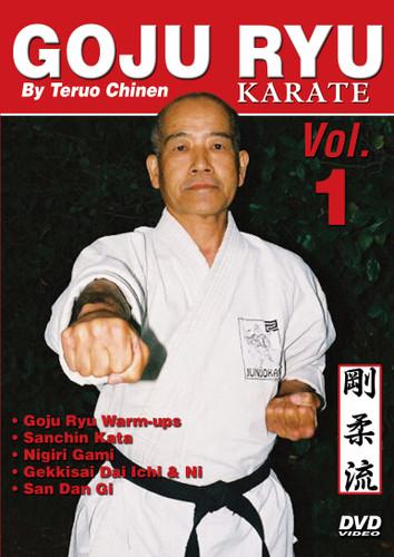 "GOJU RYU KARATE Volume 1 by Teruo Chinen In this series, Sensei Teruo Chinen - a direct disciple of Goju Ryu karate founder Chojun Miyagi and also student of legendary Eiichi Miyazato Sensei at the ""Jundokan"" dojo, teaches the 12 Goju Ryu kata as well as special exercises and techniques seldom seen outside of Okinawa. In this classic and original ""Ancient Warrior Productions"" series comprised of 5 DVD, the legendary Karate master, Sensei Teruo Chinen unveils the secrets, principles and techniques of the Okinawa Goju Ryu style of Karate-do.  Volume 1 features Goju Ryu warm-ups, Sanchin kata, Nigiri Gami, Gekkisai Dai Ichi kata, Gekkisai Dai Ni kata and San Dan Gi. (Approx. 60 min.)"