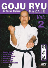 "GOJU RYU KARATE Volume 2 by Teruo Chinen In this series, Sensei Teruo Chinen - a direct disciple of Goju Ryu karate founder Chojun Miyagi and also student of legendary Eiichi Miyazato Sensei at the ""Jundokan"" dojo, teaches the 12 Goju Ryu kata as well as special exercises and techniques seldom seen outside of Okinawa. In this classic and original ""Ancient Warrior Productions"" series comprised of 5 DVD, the legendary Karate master, Sensei Teruo Chinen unveils the secrets, principles and techniques of the Okinawa Goju Ryu style of Karate-do.  Volume 2 features Junbi Undo, Hojo Undo, Tensho kata, Saifa kata, Kigo Undo and Seienchin kata. (Approx. 58 min.)"