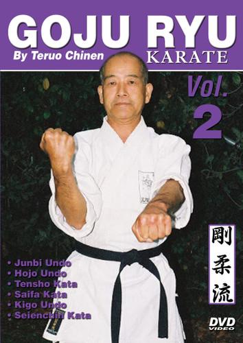 "GOJU RYU KARATE Volume 2 by Teruo Chinen In this series, Sensei Teruo Chinen - a direct disciple of Goju Ryu karate founder Chojun Miyagi and also student of legendary Eiichi Miyazato Sensei at the ""Jundokan"" dojo, teaches the 12 Goju Ryu kata as well as special exercises and techniques seldom seen outside of Okinawa. In this classic and original ""Ancient Warrior Productions"" series comprised of 5 DVD, the legendary Karate master, Sensei Teruo Chinen unveils the secrets, principles and techniques of the Okinawa Goju Ryu style of Karate-do.  Volume 2 features Junbi Undo, Hojo Undo, Tensho kata, Saifa kata, Kigo Undo and Seienchin kata. (Approx. 58 min.)"