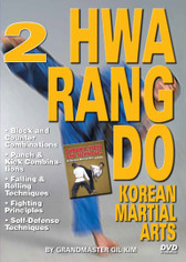 HWARANG DO - KOREAN MARTIAL ARTS Volume 2 By Grandmaster Gil Kim  In this 2-DVD set, Grandmaster Kim demonstrates warm up exercises, good fighting distance, basic fighting stances and footwork, basic punches and basic kicks. Then he goes into combinations of punches and kicks, advanced kicking techniques, falling and rolling techniques, various self- defense techniques in different situations and many other valuable and effective fighting principles and concepts of the art of Hwa Rang Do and Korean Martial Arts.    VOLUME 2  Block-and-counter combinations Punch & Kick combinations Falling & Rolling Techniques Fighting Principles Self-Defense Techniques