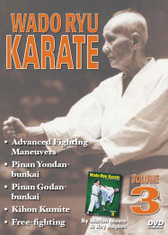 WADO RYU KARATE Volume 1- 5 By Marlon Moore & Ray Hughes Volume 3 features strikes and kicks, advanced fighting maneuvers, kata (pinan yondan and bunkai, pinan godan and bunkai), kihon kumite (sparring fundamentals), free fighting, and self-defense techniques.