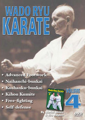 WADO RYU KARATE Volume 4 By Marlon Moore & Ray Hughes Volume 4 features advanced review, strikes and kicks, advanced footwork and maneuvers, kata (naihanchi and bunkai, kushanku and bunkai), kihon kumite (sparring techniques), free fighting, and self-defense techniques.