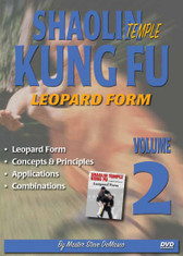 "SHAOLIN KUNG FU VOL. 2 LEOPARD FORM By Master Steve DeMasco Black Belt Hall of Fame member Steve DeMasco shares his knowledge from years of training with the some of the most famous Chinese grandmasters in the world. In this Series, Steve DeMasco demonstrates these fundamental martial arts techniques from Shaolin Kung Fu. Since 1997, Steve DeMasco—a 10th-degree black belt in Shaolin Kempo— has traveled to China every year to train with the senior monks of the famous Shaolin Temple. Master Steve DeMasco's inside training with the monks at the fabled Shaolin Temple has afforded him the opportunity to share their unique curriculum with the world. ""These techniques were designed 1,500 years ago and have been practiced by the Shaolin monks. The Shaolin Kung Fu system is derived from animal techniques: the tiger, the crane, the leopard, the snake and the dragon. If you watch closely, you'll see the characteristics of some of these animals — especially the snake, the crane and the tiger."" Leopard Form Concepts & Principles Applications Combinations"