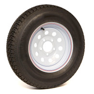Bias Ply 175/80D13C Tire on a 5 Hole White Mod Wheel