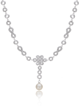 Eternal Braided Knot Pearl Necklace 450329
