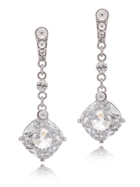 Elegant CZ Square Drops Earrings  | Earrings