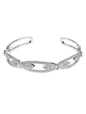 Elegant Crystal Pave Bangle  | Bracelets