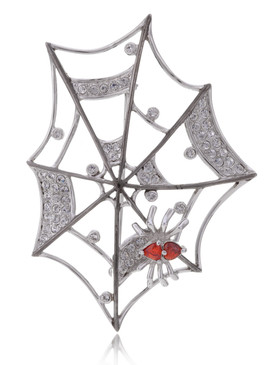 Charlotte's Spider Web Brooch  | Brooches