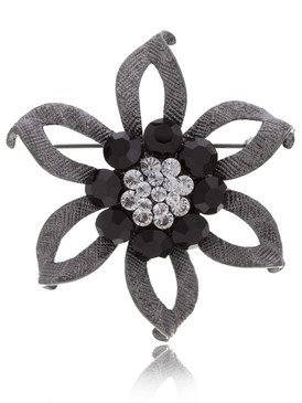 Sophisticated Crystal Daisy Brooch  | Brooches