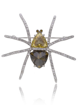 Exquisite CZ Spider Brooch 83019