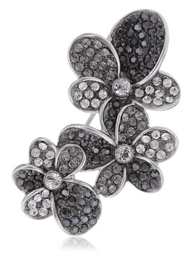 Triple Crystal Flower Brooch  | Brooches
