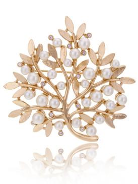 Pearl Floral Brach Brooch 83706