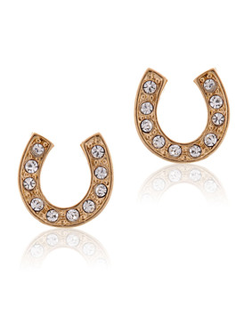 Crystal Horseshoe Stud Earrings 32339