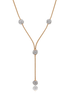 Farrah's Crystal Pave Balls Necklace 44300