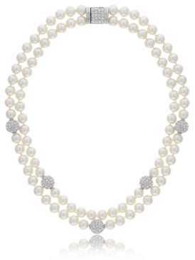 Alma's Double-Strand Pearl Necklace  | Necklaces