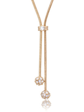 Iris's Crystal Double Ball Drop Necklace  | Necklaces