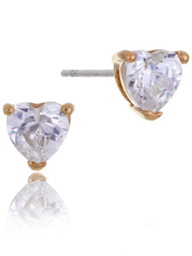 Molan's Heart CZ Stud Earrings 42057