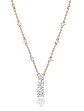 Christine's Triple CZ Drop Necklace  | Necklaces