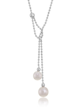 Valerie's Double Pearl Drop Necklace  | Necklaces