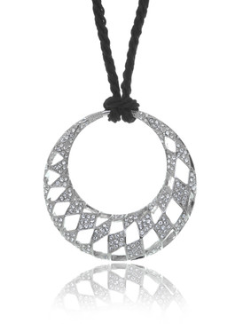 Crystal Hollow Circle Pendant Necklace 4 | Necklaces