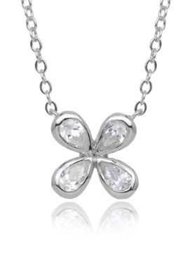 Sasha's Flower CZ Necklace  | Necklaces