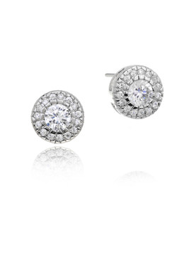 Sunshine CZ Circle Earrings  | Earrings