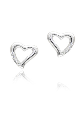 Juliet's Crystal Heart Earrings  | Earrings