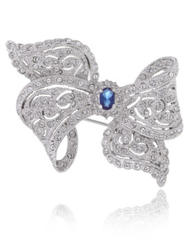 Madalyn's CZ Ribbon Bow Brooch  | Brooches