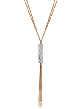 Monique's Crystal Tassel Necklace 44346