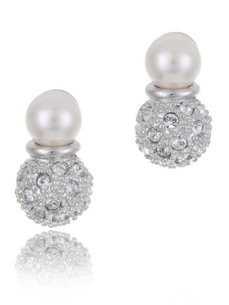 Sarah's Crystal Pearl Drop Earrings  | Earrings