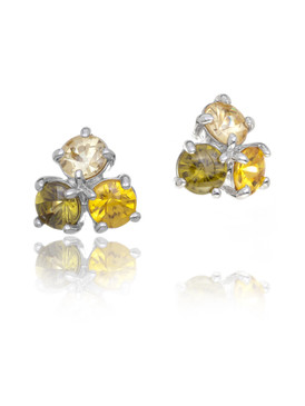 Grace's Colorful CZ Flower Earrings  | Earrings