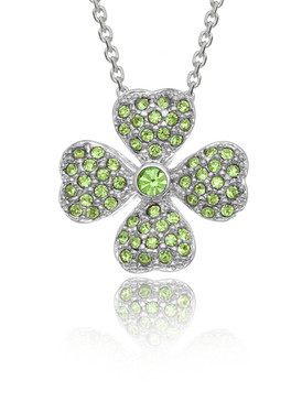 Four Leaf Clover Crystal Pendant 33019